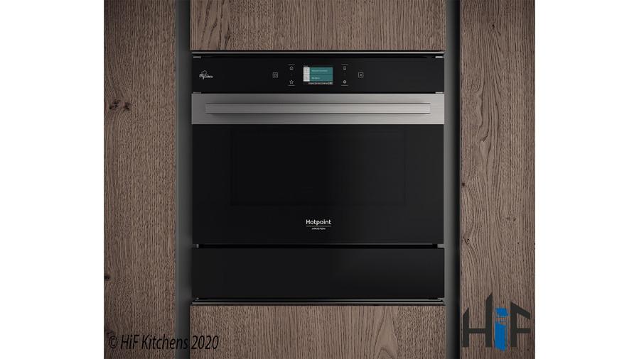 Hotpoint WD 914 NB Warming Drawer Black Glass Image 2