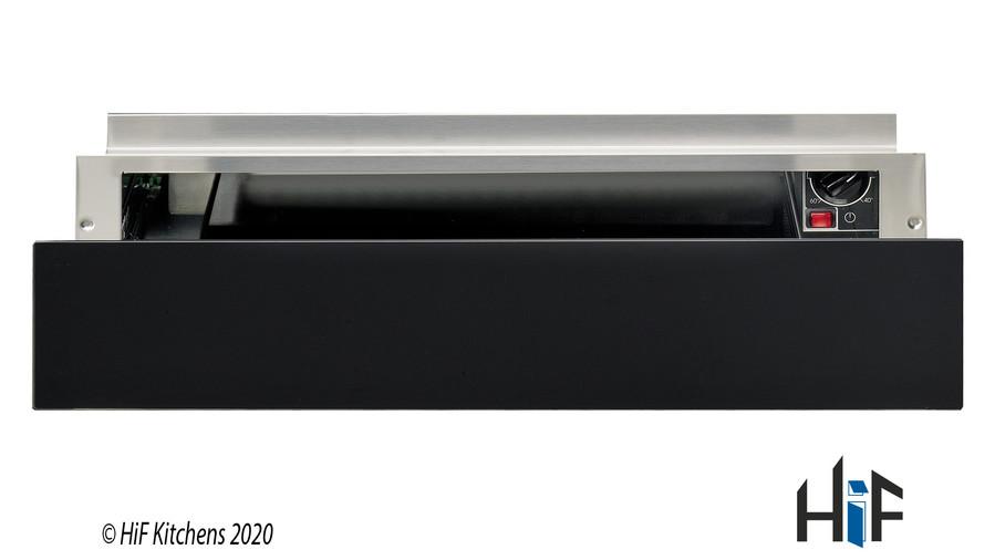 Hotpoint WD 914 NB Warming Drawer Black Glass Image 1