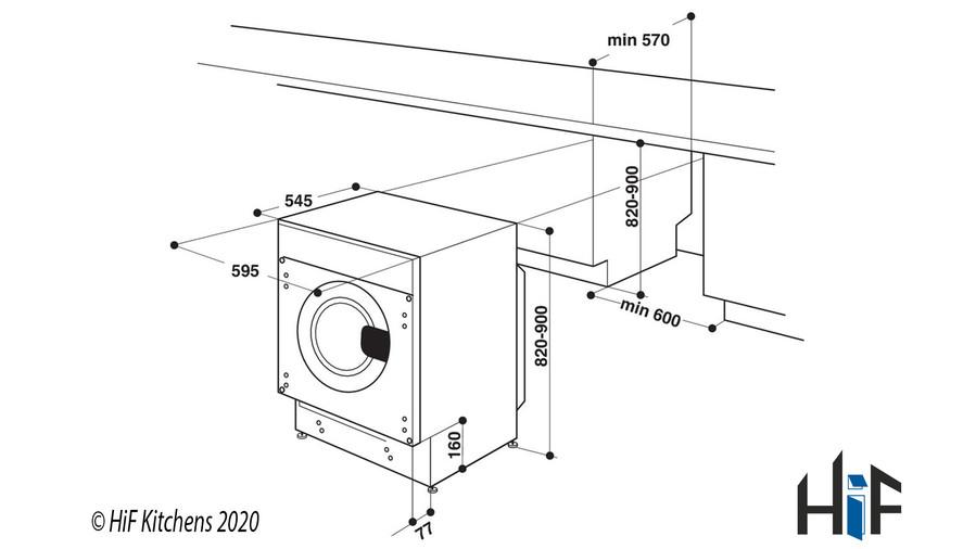 Hotpoint BI WDHG 7148 UK Integrated Washer Dryer Image 11