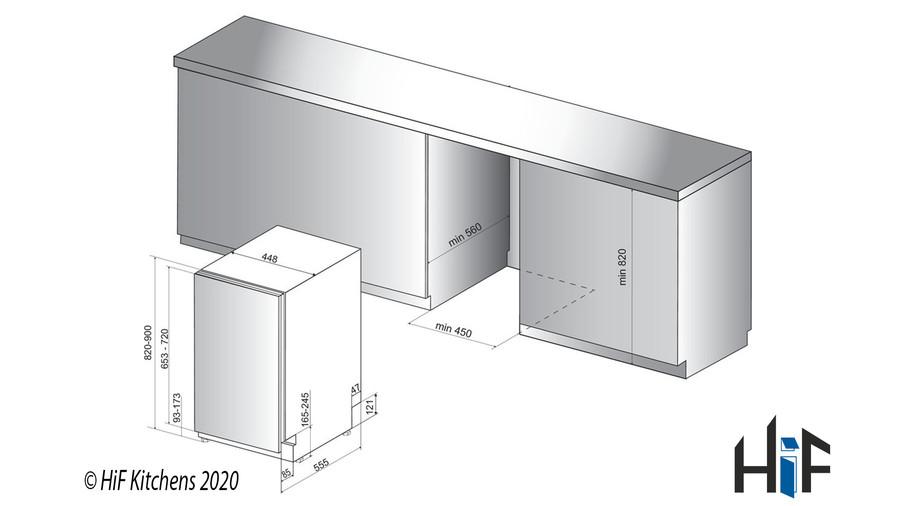 Indesit DSIE 2B10 UK Fast Eco Cycle Integrated Dishwasher Image 6