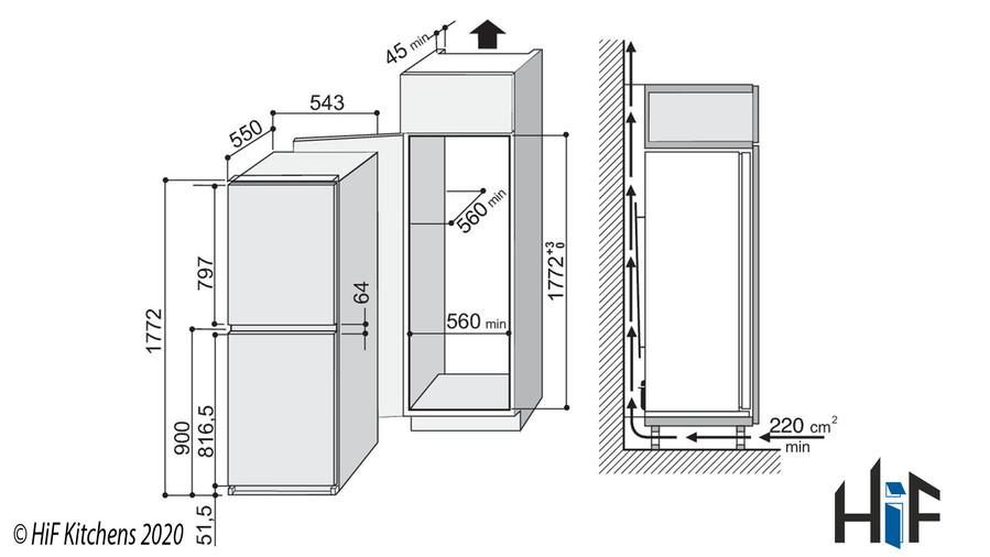 Indesit INC325FF1 Integrated Fridge Freezer Image 2