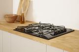 Indesit PAA 642 /I(BK) UK Gas Hob In Black Image 3 Thumbnail