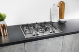 Hotpoint PCN641TIXH 60cm Gas Hob Stainless Steel Image 4 Thumbnail
