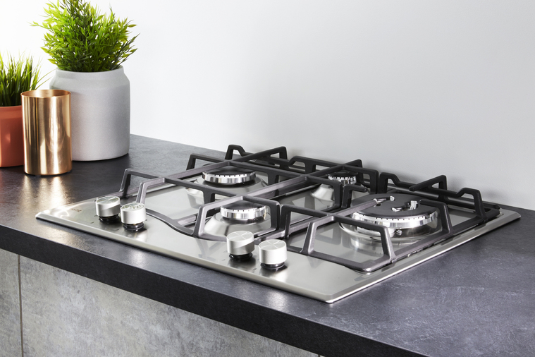 Hotpoint PCN641TIXH 60cm Gas Hob Stainless Steel Image 5