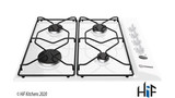 Indesit PAA 642 /I(WH) Gas Hob Stainless Steel Image 1 Thumbnail