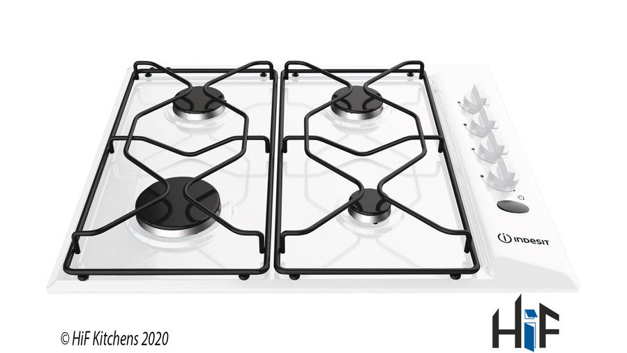 Indesit PAA 642 /I(WH) Gas Hob Stainless Steel Image 1