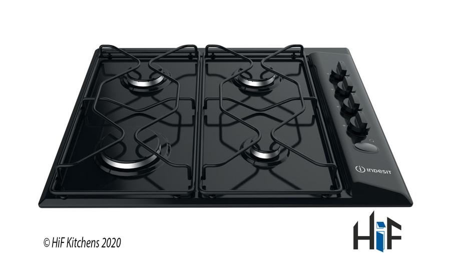 Indesit PAA642IBK UK Gas Hob In Black Image 1