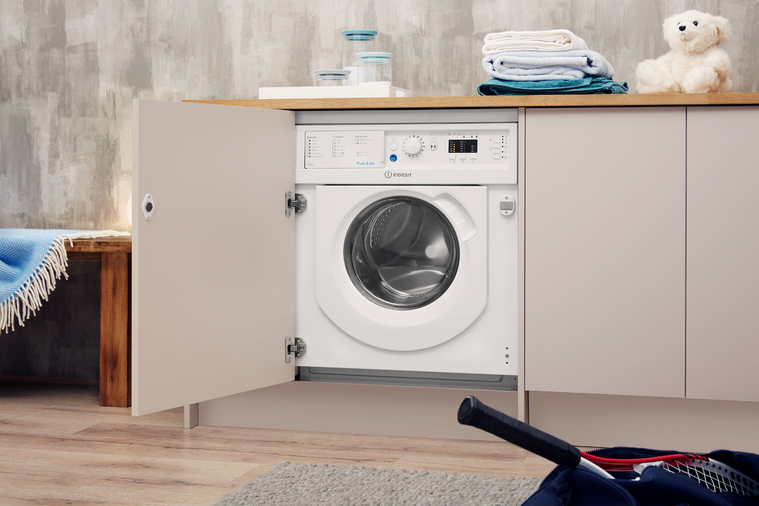 Indesit Integrated Washer Dryer Ecotime BI WDIL 7125 UK  Image 7