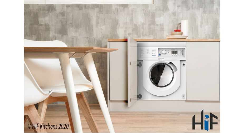 Indesit Integrated Washer Dryer Ecotime BI WDIL 7125 UK  Image 2