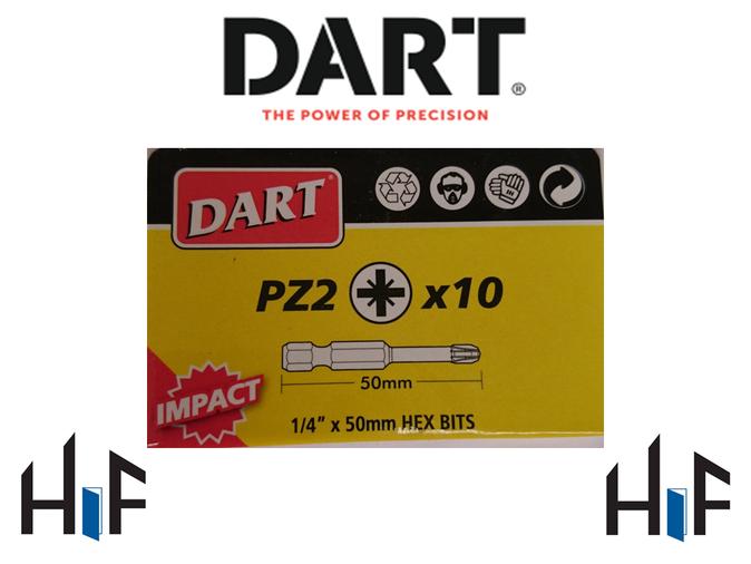 Dart Impact Driver Bits - 10 Pack  Image 1