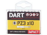 Dart Impact Driver Bits - 10 Pack  Image 2 Thumbnail