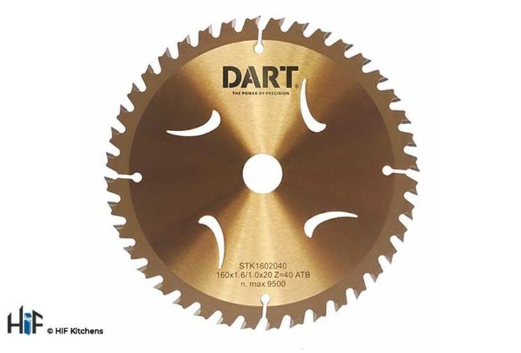DART Thin Kerf ATB Wood Saw Blade 165Dmm x 16B x 24Z Image 1