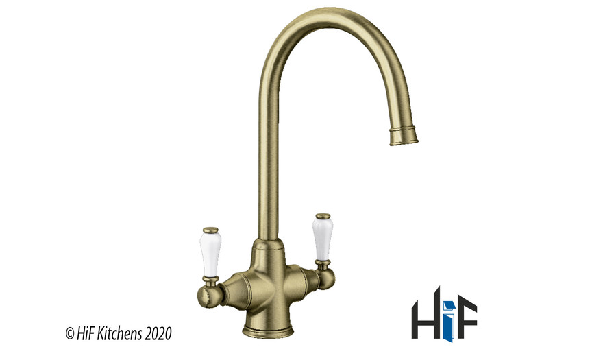 Blanco Vicus Twin Lever Chrome Kitchen Tap 524284 Image 2