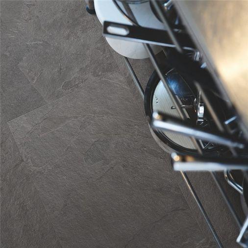 Pergo Black Scivaro Slate Vinyl Tile Click Flooring V2120-40035 Image 2