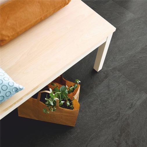Pergo Black Scivaro Slate Vinyl Tile Click Flooring V2120-40035 Image 3