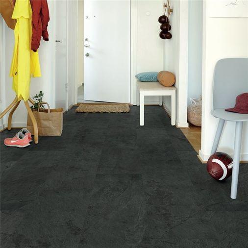 Pergo Black Scivaro Slate Vinyl Tile Click Flooring V2120-40035 Image 4
