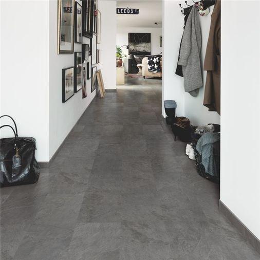 Pergo Black Scivaro Slate Vinyl Tile Click Flooring V2120-40035 Image 5