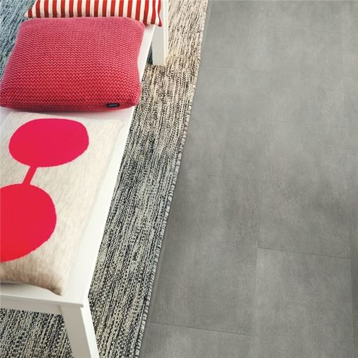 Pergo Dark Grey Concrete Vinyl Tile Click Flooring V2120-40051 Image 2