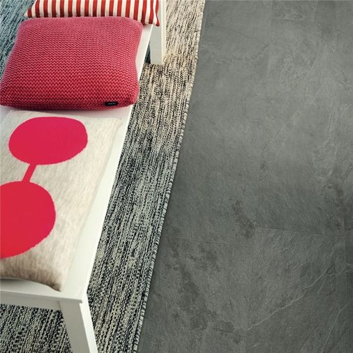 Pergo Grey Scivaro Slate Vinyl Tile Click Flooring V2120-40034 Image 2