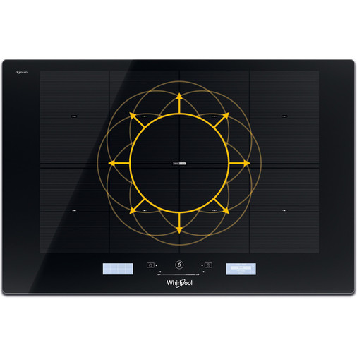 Whirlpool SmartCook SMP 778 C/NE/IXL Induction Hob 8 Zone 77cm - Black Image 4