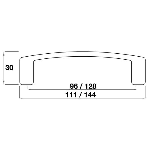 11.2620.96.CH Kitchen D Handle 96mm Die-Cast Chrome Image 3