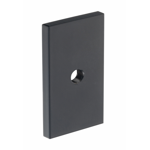 B385.40.MB Kitchen Rectangular Backplate Matt Black Finish  Image 1