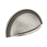 H1111.64.PE  Kitchen Cup Handle With Stepped Detail Solid Pewter Image 1 Thumbnail