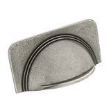 H1112.64.PE Cup Handle With Stepped Detail On Plain Backplate Image 1 Thumbnail