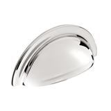 H1127.76.CH Cup Handle With Lip Detail 76mm Chrome Image 1 Thumbnail