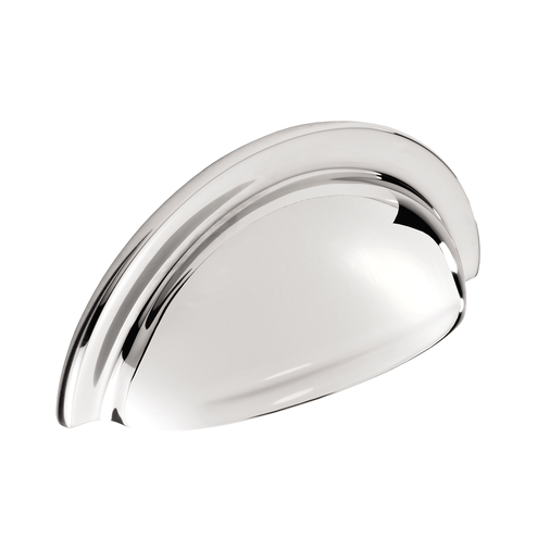 H1127.76.CH Cup Handle With Lip Detail 76mm Chrome Image 1