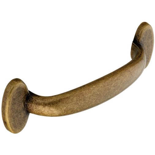 H268.96.AB Kitchen D Handle 96mm Die-Cast Antique Brass Effect Image 1