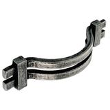 H307.128.PE Kitchen Bow Handle 128mm Pewter Image 1 Thumbnail