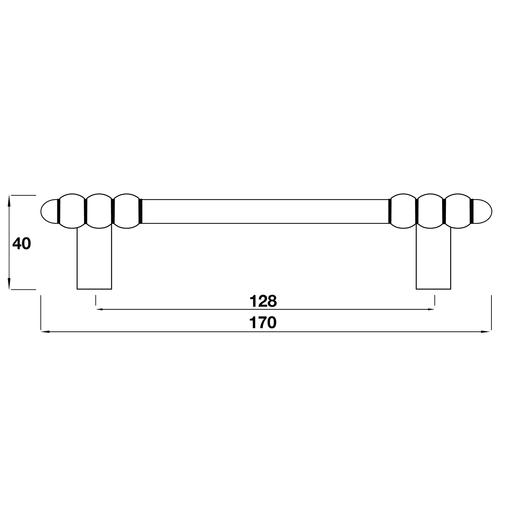 H552.128.PE Kitchen Bar Handle 128mm Pewter Image 2