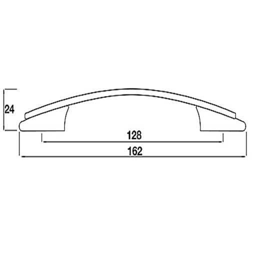 H590.128.BN Kitchen Bow Handle 128mm Bright Nickel Image 2