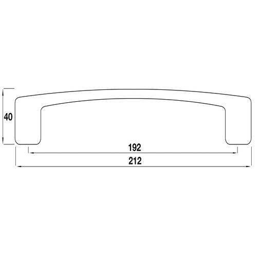 H673.192.CH Kitchen D Handle 192mm Chrome Effect Image 2