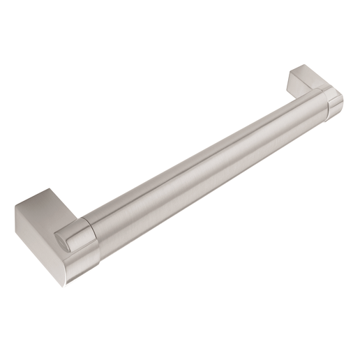 Bar Handle H697.128.SS 14mm Dia Stainless Steel Effect Image 1
