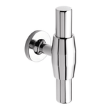 H885.72.CH Kitchen Handle T-Bar Design 72mm Solid Brass Chrome Image 1 Thumbnail