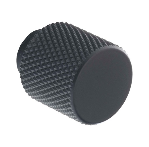 K1111.20.MB Kitchen Knurled Knob 20mm Matt Black Image 1