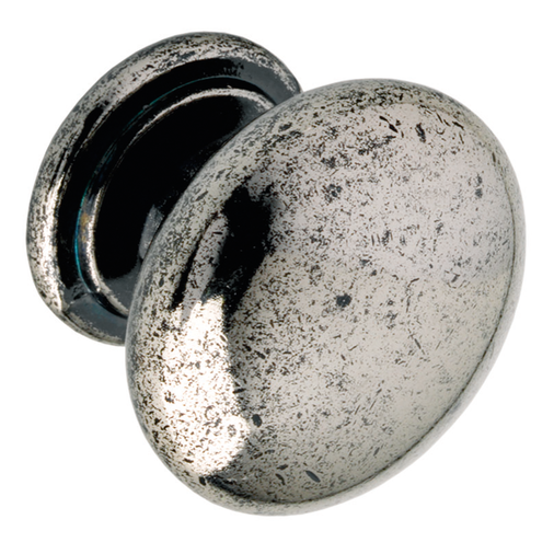 K265.33.PE Kitchen Knob 33mm Die-Cast Pewter Effect Image 1