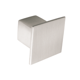 K353.36.SS Knob Square Stainless Steel Effect Image 1 Thumbnail