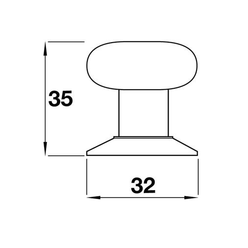 K373.35.PEGC Knob 35mm Antiqued Pewter And Grey Crackled Effect Image 2