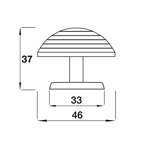 K719.46.PE Knob And Backplate 46mm Dia Pewter Effect Image 2