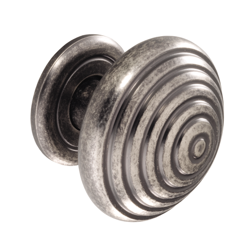 K719.46.PE Knob And Backplate 46mm Dia Pewter Effect Image 1