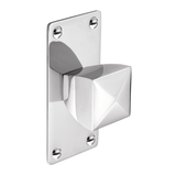 K879.34.CH Knob Square With Rectangular Backplate 34mm Chrome Image 1 Thumbnail