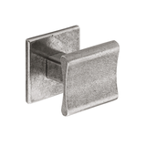 K895.30.PE  Kitchen Knob Square 30mm C/W Backplate Pewter 1909 Image 1 Thumbnail
