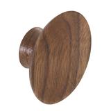 K967.50.WA Knob Concave 50mm Diameter Walnut Image 1 Thumbnail