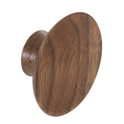 K967.50.WA Knob Concave 50mm Diameter Walnut Image 1