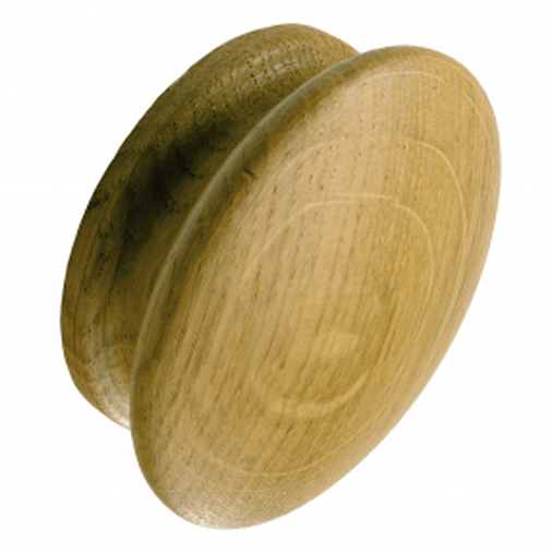 S87/55CR Kitchen Knob 55mm Croft Oak Image 1