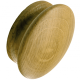 S87/44CR Kitchen Knob 44mm Croft Oak Lacquered Image 1 Thumbnail