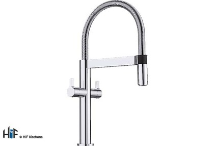 View Blanco 525197 Culina-S Mini Twin Lever Tap BM4800CH offered by HiF Kitchens